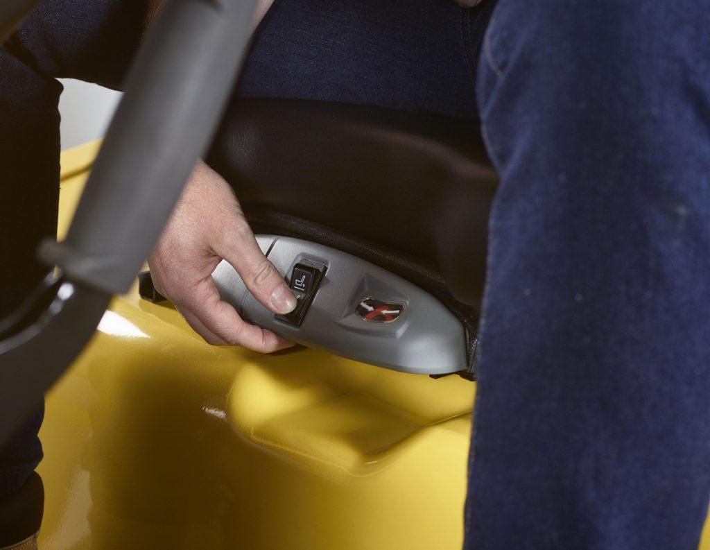 Hyster polohovanie sedadla